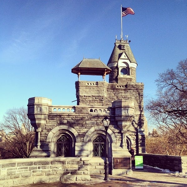 Photo taken at Belvedere Castle by Jakub S. on 3/6/2014