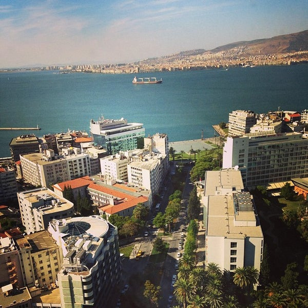 Photo taken at Hilton Izmir by Ozan S. on 10/6/2013