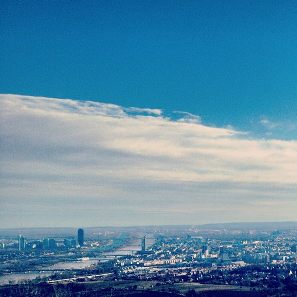 Photo taken at Kahlenberg by Azra K. on 2/3/2013
