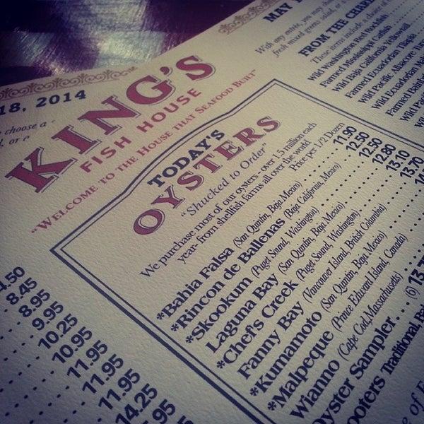 King 39 s fish house promenade 32 tips for Kings fish house menu