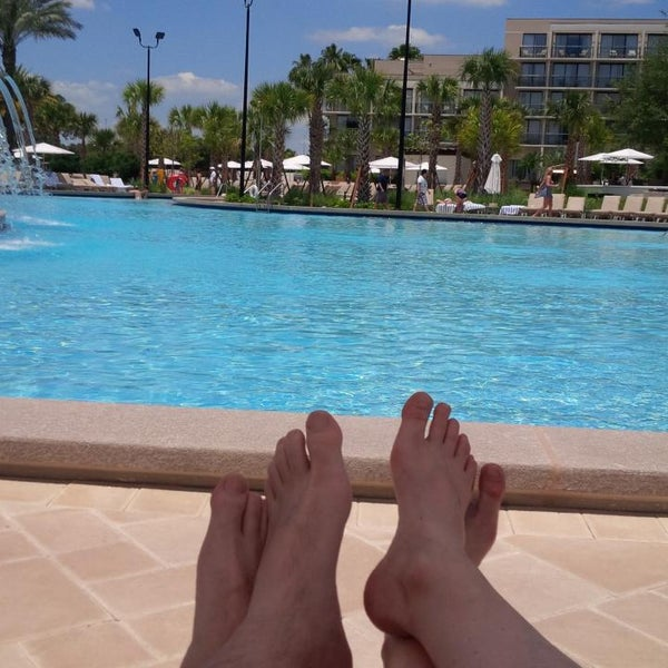 Photo taken at Marriott World Center Pool by Janne S. on 5/17/2013