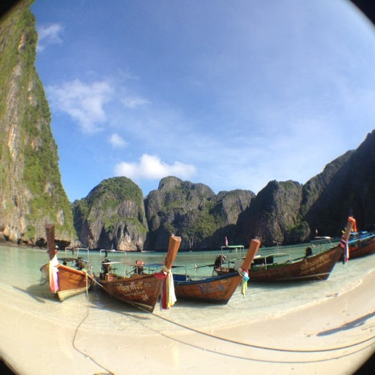 Photo taken at เกาะพีพีดอน (Koh Phi Phi Don) by Kate S. on 11/8/2012