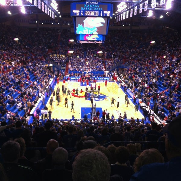Photo taken at Allen Fieldhouse by Michael T. on 1/15/2013