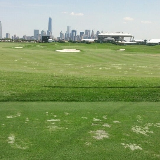 Photo taken at Liberty National Golf Course by Brendan O. on 8/25/2013