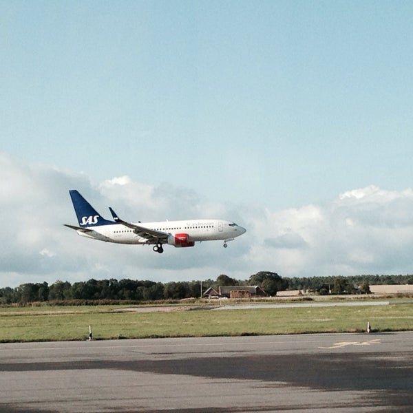 Photo taken at Ängelholm-Helsingborg Airport (AGH) by Jonas H. on 9/8/2014