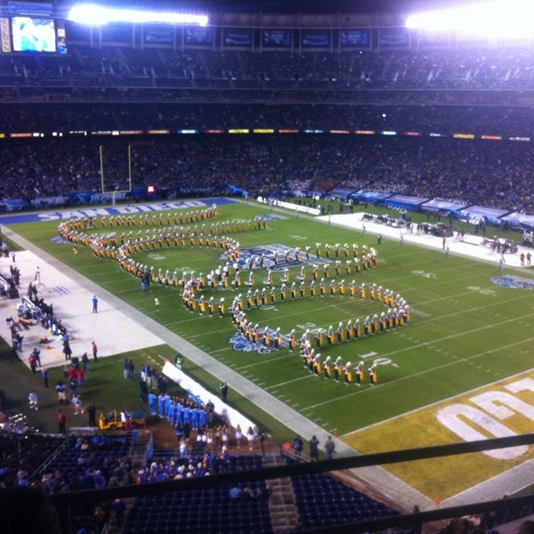 Photo taken at Qualcomm Stadium by Chris L. on 12/28/2012