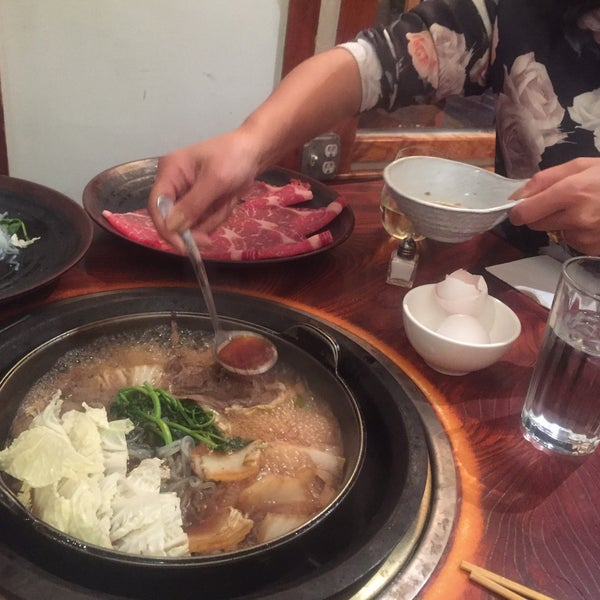 If you've never had shabu, this is yet another interesting E 10th Japanese spot to check. Shabu shabu = thin sliced meat cooked in boiling water, sukiyaki = thin...cooked in soy base, yakiniku = grill