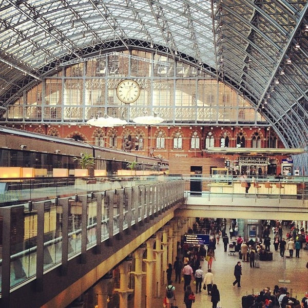 Photo taken at London St Pancras International Railway Station (STP) by Andrew v. on 6/3/2013