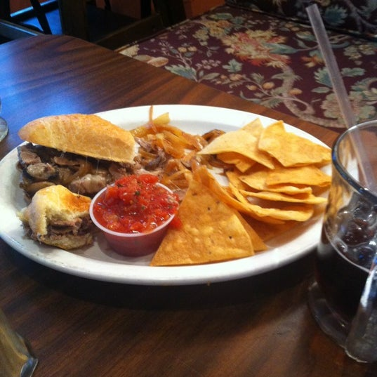 Philly chez steak, Mexican with turkey & always order the homemade tortilla chips. Draft Root-beer & PBR only way to go.