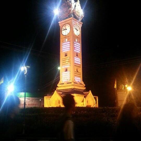 Photo taken at Maha Sarakham Clock Tower by Krataii_toki t. on 11/18/2012