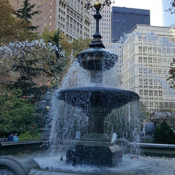 Photo taken at City Hall Park by Marsha T. on 11/8/2015