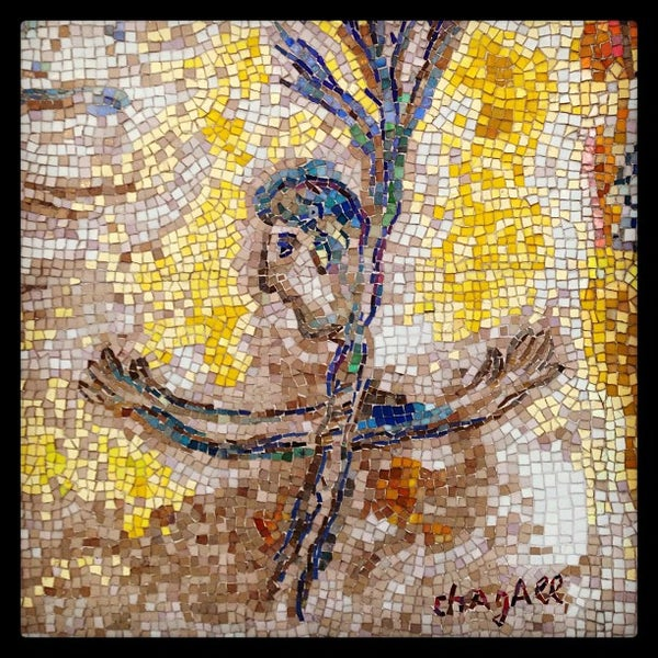 """Photo taken at Chagall Mosaic, """"The Four Seasons"""" by Elina B. on 2/24/2013"""