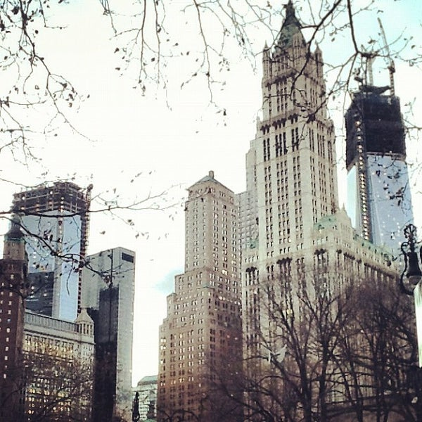 Photo taken at City Hall Park by Beatrice B. on 11/24/2012