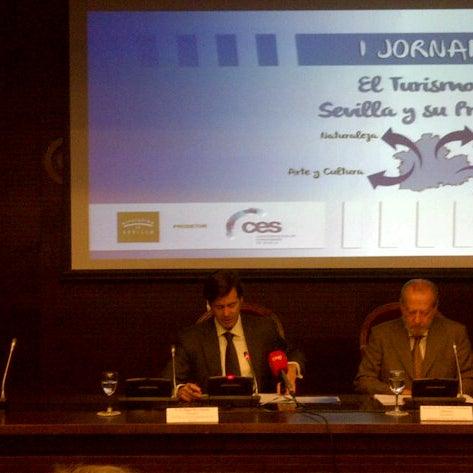 Photo taken at Cámara de Comercio de Sevilla by Alfonso F. on 11/26/2013