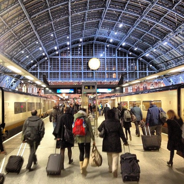 Photo taken at London St Pancras International Railway Station (STP) by Paul F. on 3/1/2013