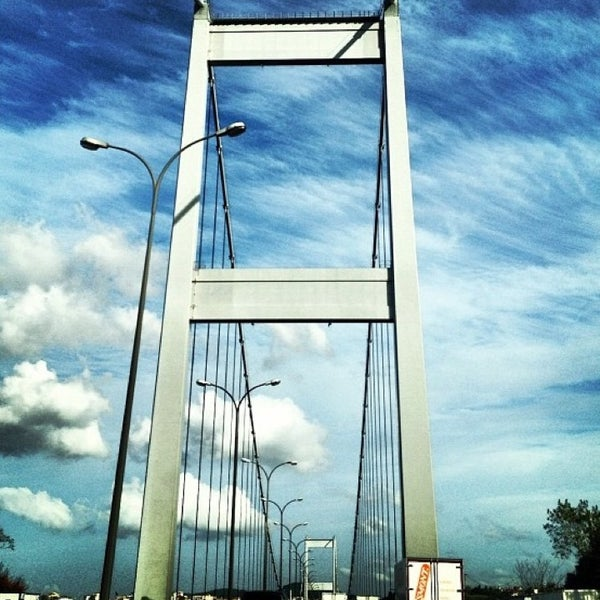 Photo taken at Fatih Sultan Mehmet Bridge by Didem O. on 7/9/2013