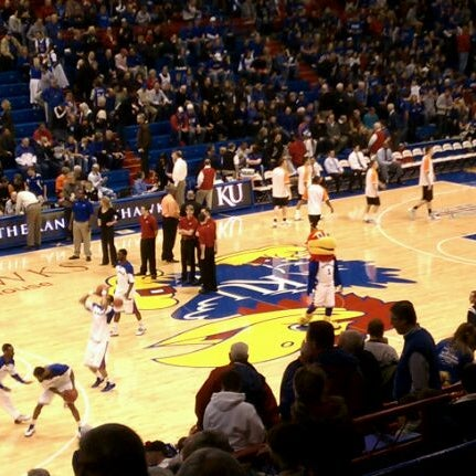 Photo taken at Allen Fieldhouse by Mark M. on 2/11/2012