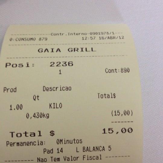 Photo taken at Gaia Grill by Thiago K. on 4/16/2012