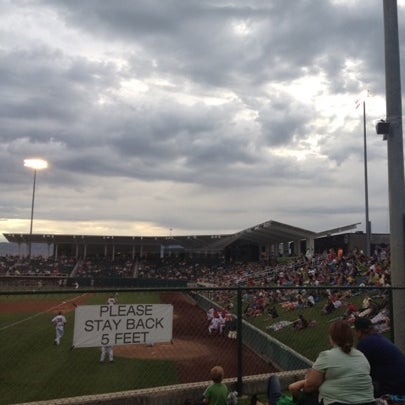 Photo taken at Home of the Owlz (Brent Brown Ballpark) by Tom M. on 7/20/2012