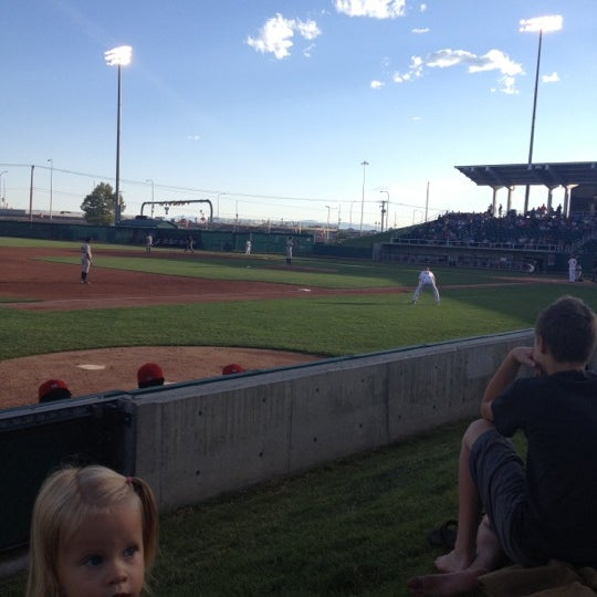 Photo taken at Brent Brown Ballpark by Tom M. on 6/30/2012