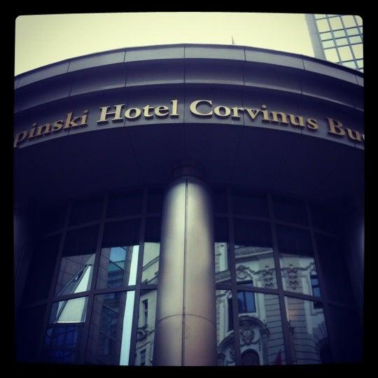Photo taken at Kempinski Hotel Corvinus Budapest by MARKO K. on 10/28/2012