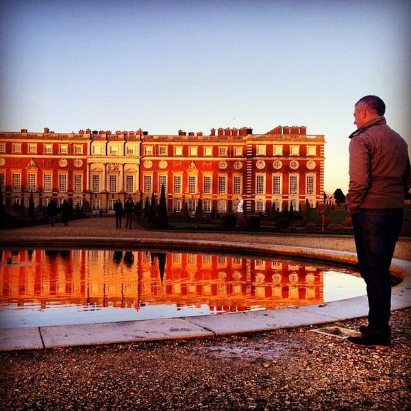 Photo taken at Hampton Court Palace by Chris P. on 1/11/2014
