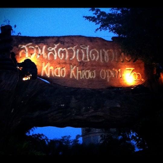 Photo taken at สวนสัตว์เปิดเขาเขียว (Khao Kheow Open Zoo) by Emily P. on 12/31/2012