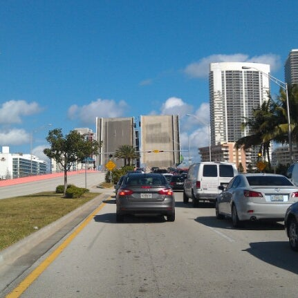 Photo taken at Waiting For The Hallandale Bridge by Angelo F. on 2/9/2013