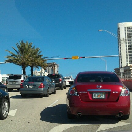 Photo taken at Waiting For The Hallandale Bridge by Angelo F. on 12/1/2012