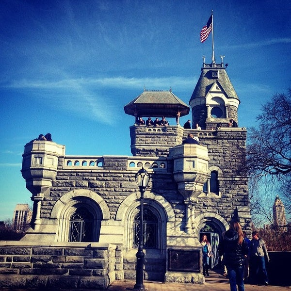 Photo taken at Belvedere Castle by Ty K. on 3/9/2014
