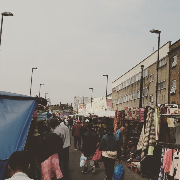 Photo taken at Ridley Road Market by Jairo S. on 6/12/2015