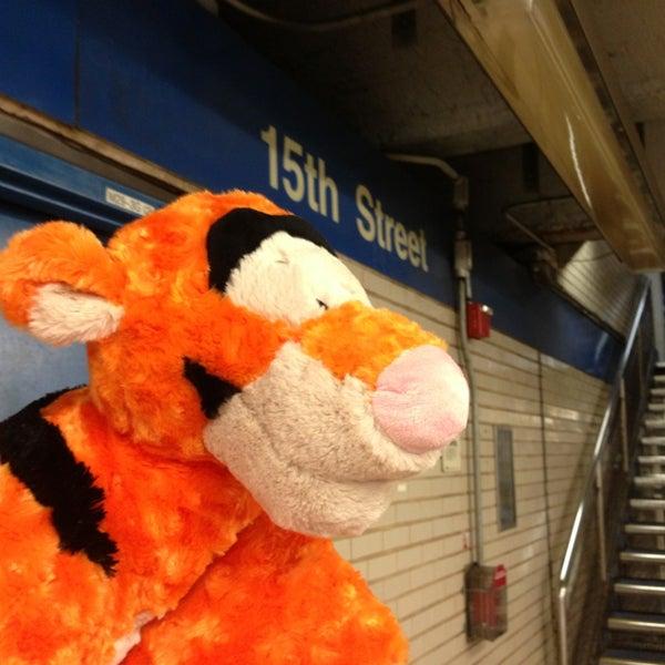 Photo taken at SEPTA MFL/TRL 15th Street Station by Christina L. on 9/6/2013