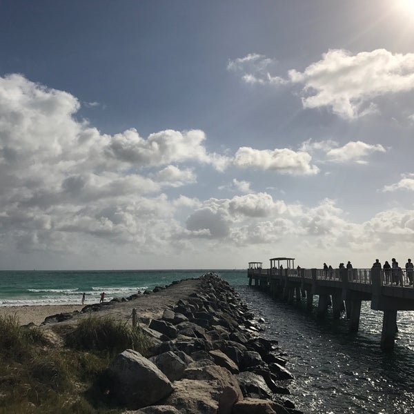 Photo taken at South Pointe Pier by [Princess] on 1/1/2017
