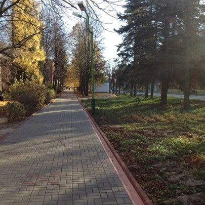 Photo taken at Пущино by Katerina Z. on 10/27/2012