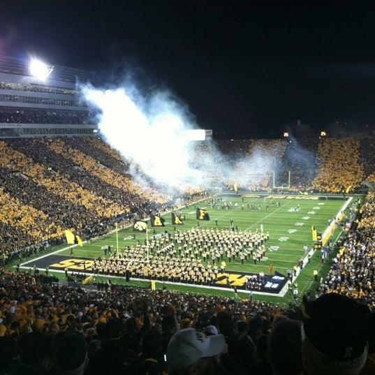 Photo taken at Kinnick Stadium by Hannah N. on 10/21/2012