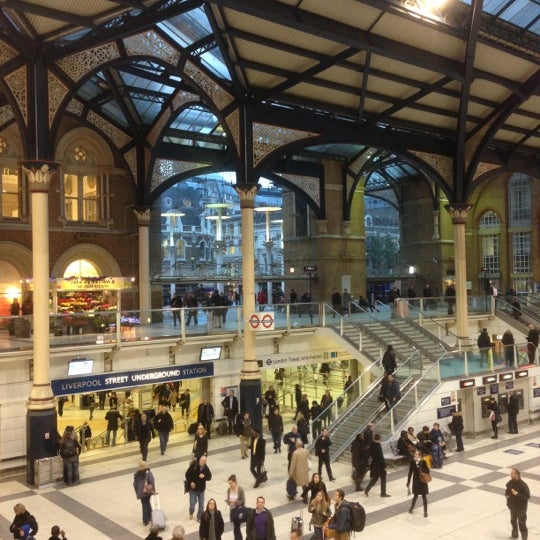 Photo taken at London Liverpool Street Railway Station (LST) by Nicolas B. on 1/4/2013