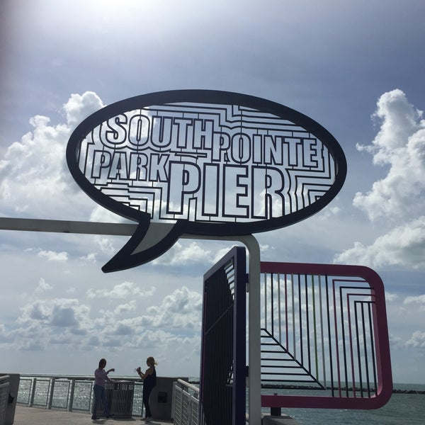 Photo taken at South Pointe Pier by Ian T. on 10/26/2016