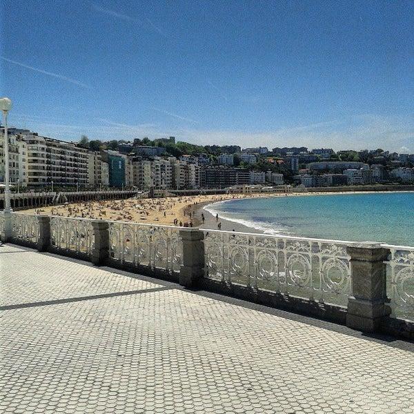 Photo taken at Paseo de La Concha by Marina T. on 6/5/2013