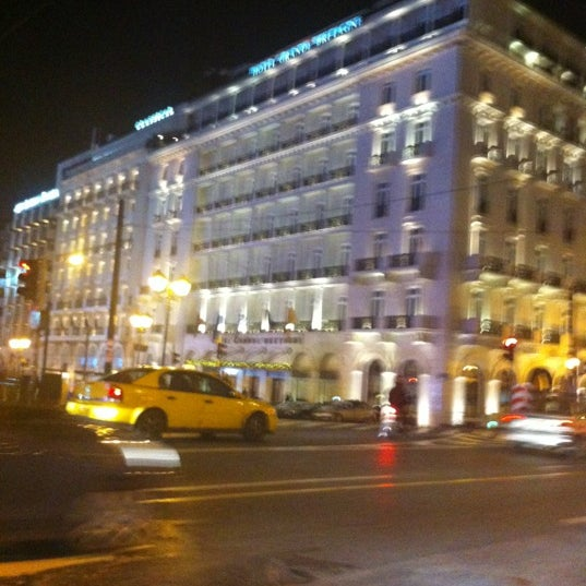 Photo taken at Hotel Grande Bretagne by Spyros P. on 12/16/2012