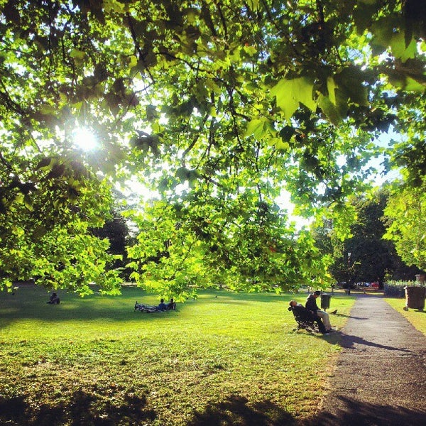 Photo taken at Clapham Common by Chris D. on 9/18/2012