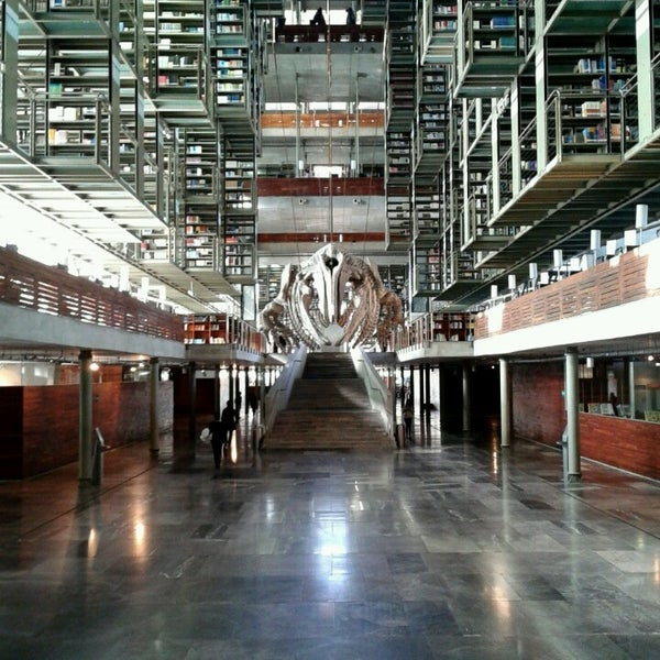 Photo taken at Biblioteca Vasconcelos by Alinne B. on 3/23/2013