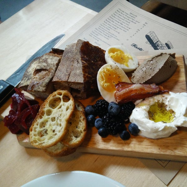 Try the breakfast board to sample their signature offerings.