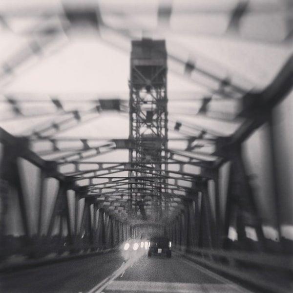 Photo taken at Rio Vista Bridge by Greg B. on 1/1/2013