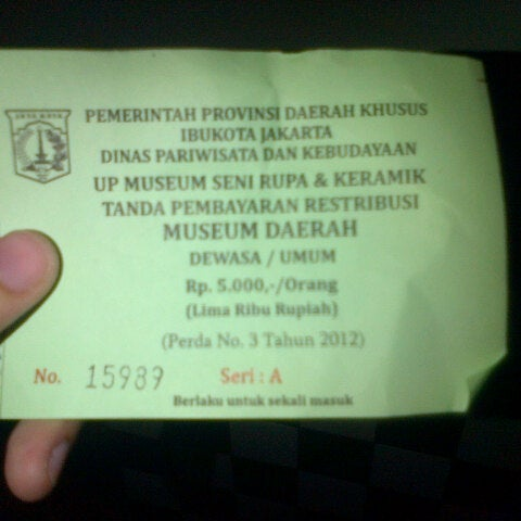 Photo taken at Museum Seni Rupa dan Keramik by shofi s. on 9/10/2013