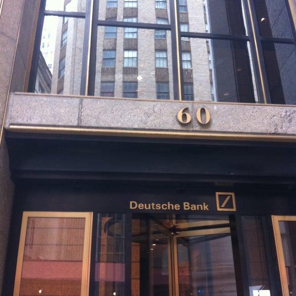 Photo taken at Deutsche Bank by Eric N. on 5/15/2013