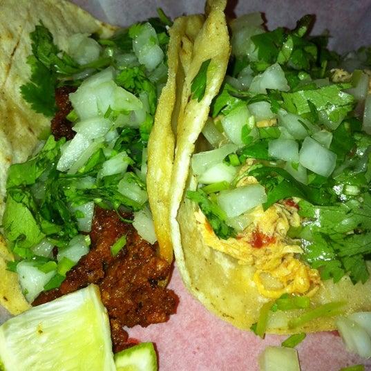 Photo taken at Tia Cori's Tacos by Amy on 10/22/2011