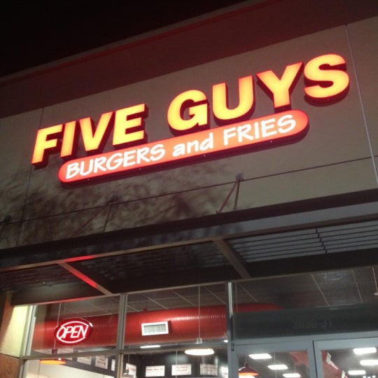Photo taken at Five Guys by Yaser R. on 10/8/2012