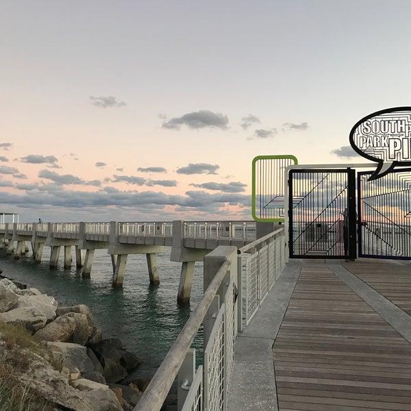 Photo taken at South Pointe Pier by Julian B. on 11/22/2016