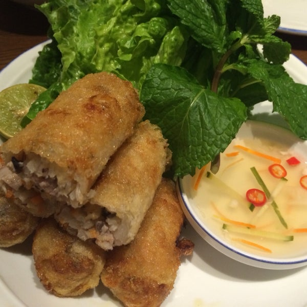 Spring rolls are good, especially the size