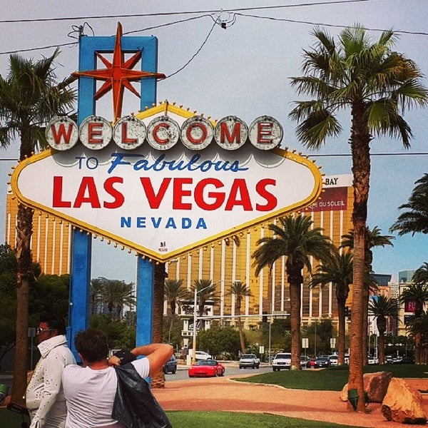 Photo taken at Welcome To Fabulous Las Vegas Sign by Nikolay M. on 3/3/2014